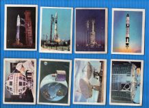 TRADE / cigarette cards Space Travel 1967 Anglo chewing Gum co. set of 66
